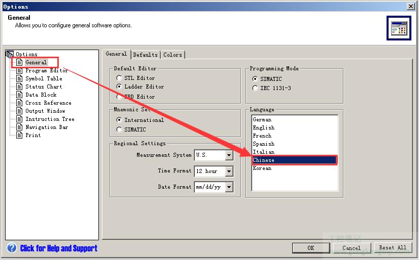 【软件问题】西门子S-200编程软件如何切换语言