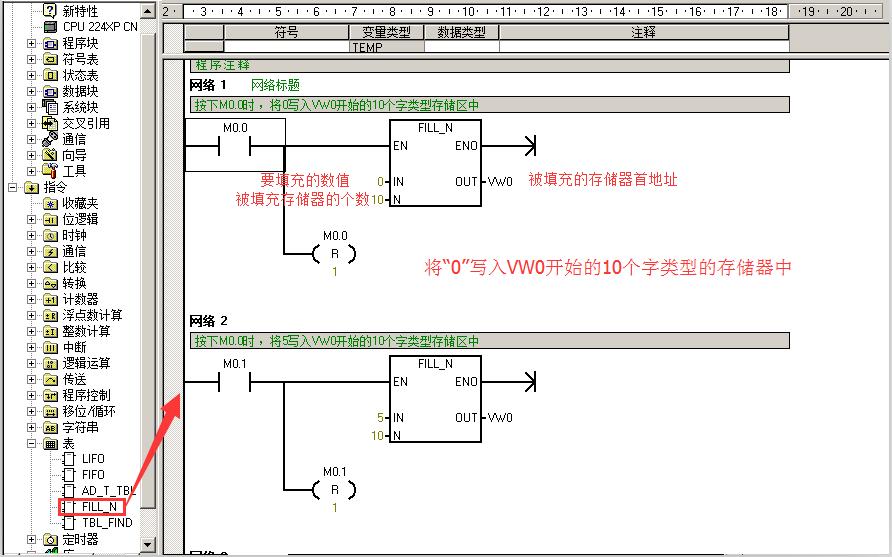 【S7-200】如何将一个数值传送到多个存储区的简单方法
