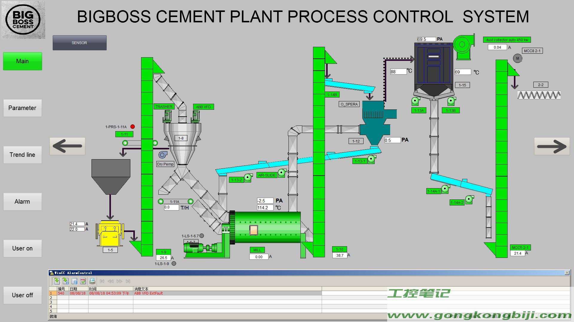 【项目案例】菲律宾某水泥厂控制系统